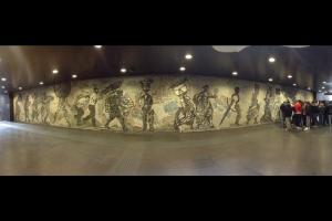 """Il grande Mosaico della """"Ferrovia di Napoli"""""""