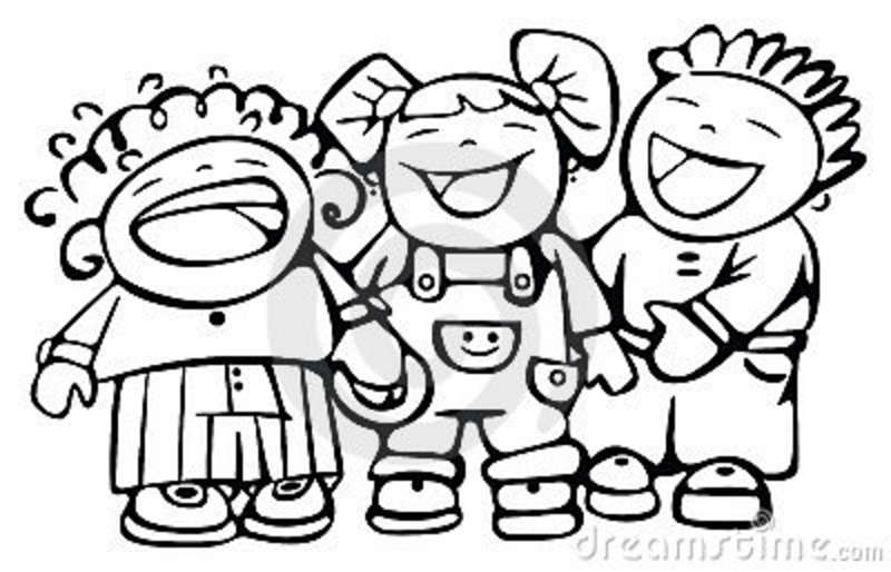 laugh clipart black and white - photo #31