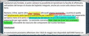 """19/01/15: l'Assessore alle Infrastrutture del Comune di Napoli annuncia che sta lavorando alle """"tariffe family""""!"""