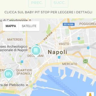 Baby Pit stop sulla mappa di Napoli